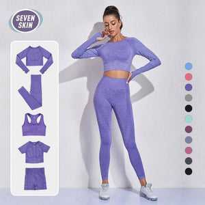 SEVEN SKIN 2/3/5PCS Seamless Women Yoga Set Gym Fitness Sportswear Long Sleeve Crop Top Clothing High Waist Leggings Sport Suits |  | akolzol