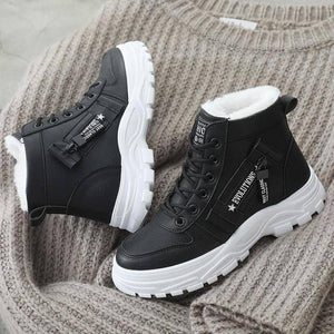 Women Winter Snow Boots 2019 New Fashion Style High-top Shoes Casual Woman Waterproof Warm Woman Female High Quality White Black | akolzol