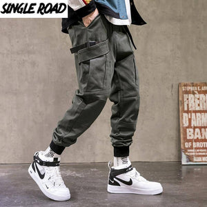 SingleRoad Mens Cargo Pants Men Fashion 2021 Army Green Joggers Hip Hop Harajuku Pants Male Japanese Streetwear Trousers For Men