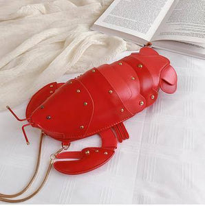 Cute Fashion Lobster Style Crossbody Mini Bag  Pu Leather Girl's Chain Purses and Handbags Women Shoulder Bag Clutch Bag 2021 |  | akolzol