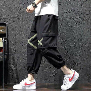 Men's Side Pockets Cargo Harem Pants 2021 Hip Hop Casual Male Tatical Joggers Trousers Fashion Casual Streetwear Pants | akolzol