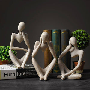 Abstract Thinker Statue Sculpture Nordic Resin Thinker Character Figurine European Style Office Home Decoration Accessories |  | akolzol