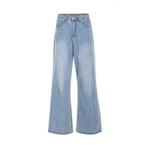 High Waisted Wide Leg Baggy Jeans 90s Cargo Aesthetic Pants Oversized Trousers Women Autumn Blue Boyfriend Jeans Pantalon Femme