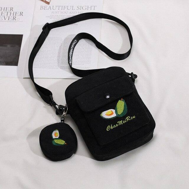 Fruit Avocado Handbag Cartoon Crossbody Bags for Women 2020 2pcs Ladies Bag Set Small Handbag Female Shoulder Messenger Bag |  | akolzol