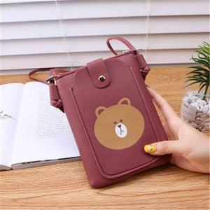 Mini Women's Bag Purse Portable Wallet Card Bags Mobile Phone Shoulder Bag Small Female Multi-function Women Black Bags | akolzol