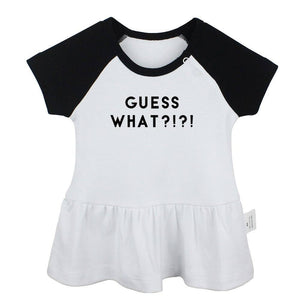 Constellation Aquarius Pisces Virgo Design Guess What Day It Is Street Printed Newborn Baby Girls Dresses Toddler Infant Clothes |  | akolzol