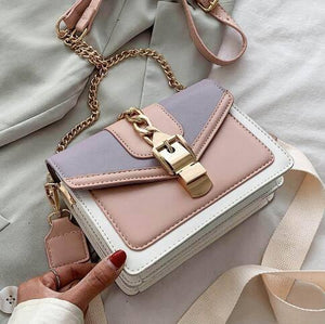 Contrast color Leather Crossbody Bags For Women 2021 Travel Handbag Fashion Simple Shoulder Messenger Bag Ladies Cross Body Bag |  | akolzol