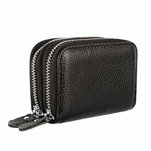 Womens Wallets Purses Multifunctional Female Design Women's Genuine Leather RFID Secure Zipper Credit Card Holder | akolzol
