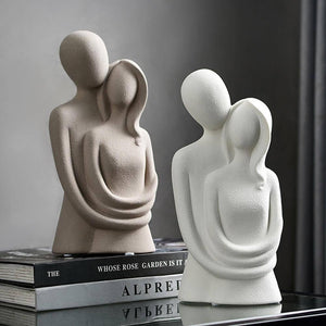 Nordic Abstract Sculpture Character Decoration Resin Love Statues Modern Home Decoration Living Room Office Desk Decoration Gift | akolzol