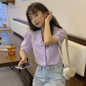 New Embroidery Oversize Women Blouses Summer Tops Femme Casual Womens Shirt Short Sleeve Cotton Girls Blouse Plus Size Blusas