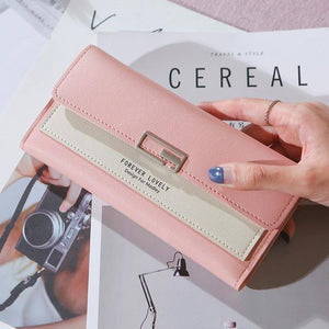 Women PU leather Korean Style Long Wallets Female Coin Purses Clutch Card Wallets Holder  Patchwork |  | akolzol