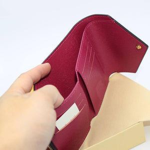 100% Genuine Leather High Quality Wallet Women's Card Bag Short WALLET Brand Short Wallet With Gift Box Dust Bag | akolzol