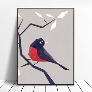 American Robin Canvas Painting Wall Art Pictures Prints Home Decor Wall Poster Decoration For Living Room |  | akolzol