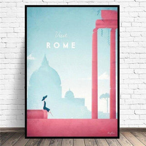 Rome Minimalist Travel Canvas Painting Wall Art Pictures Prints Home Decor Wall Poster Decoration For Living Room |  | akolzol