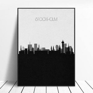 Stockholm Skyline Canvas Painting Wall Art Pictures Prints Home Decor Wall Poster Decoration For Living Room |  | akolzol