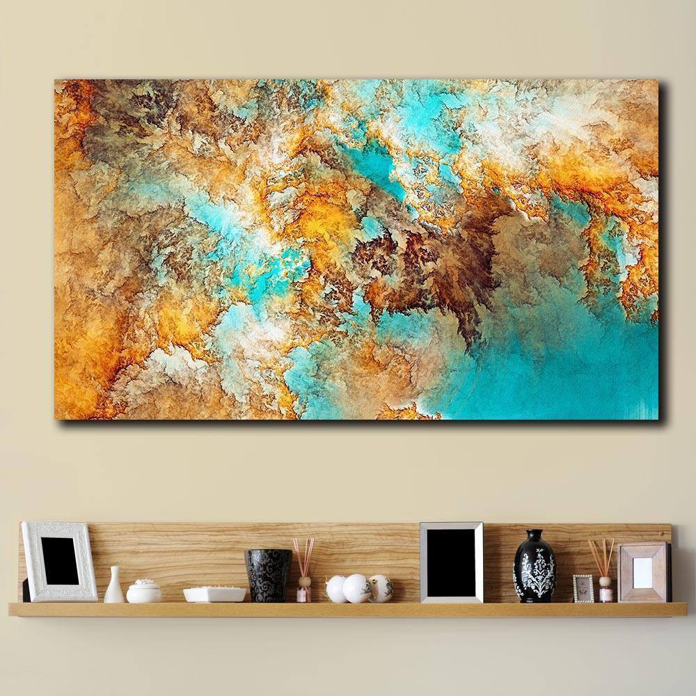 Fashion Printed Abstract Painting Oil Painting Wall Pictures For Living Room Home Decor Colorful Atmosphere Canvas Art No Frame |  | akolzol