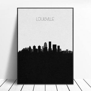 Louisville Skyline Canvas Painting Wall Art Pictures Prints Home Decor Wall Poster Decoration For Living Room |  | akolzol