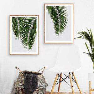 Simple Style Green Leaves Wall Art Canvas Painting Plant Wall Poster Prints for Living Room Modern Home Decor |  | akolzol