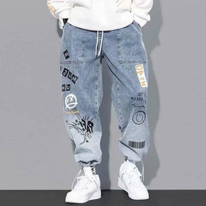 High quality Fashion Men's Cargo pants Hip Hop Trend Streetwear Jogging Pants Men Casual Elastic Waist Men Clothing Trousers