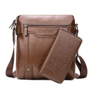 2 In 1 Heren Crossbody Schoudertassen Met Tote Fashion Business Messenger Bag Grote Split Lederen Tassen tas Voor Mannen |  | akolzol