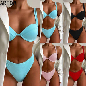 2021 New Women's Bikni Swimsuits Fashion Sexy Solid Bikini Sets | akolzol