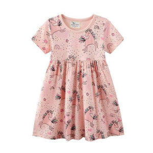 Jumping Meters New 2021 Princess Party Girls Dresses Summer Cotton Kids Clothing Fashion Hot Selling Children's Dress Tops Girls | akolzol