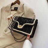 Sequins Flap Crossbody bag 2021 Fashion New High Quality Wool Women's Designer Handbag Lock Chain Shoulder Messenger Bag | akolzol