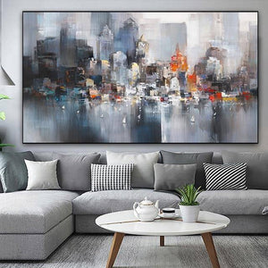 City Building Canvas Painting Landscape Poster Scenery Prints Home Decor Abstract Wall Art Pictures For Living Room Big Size | akolzol
