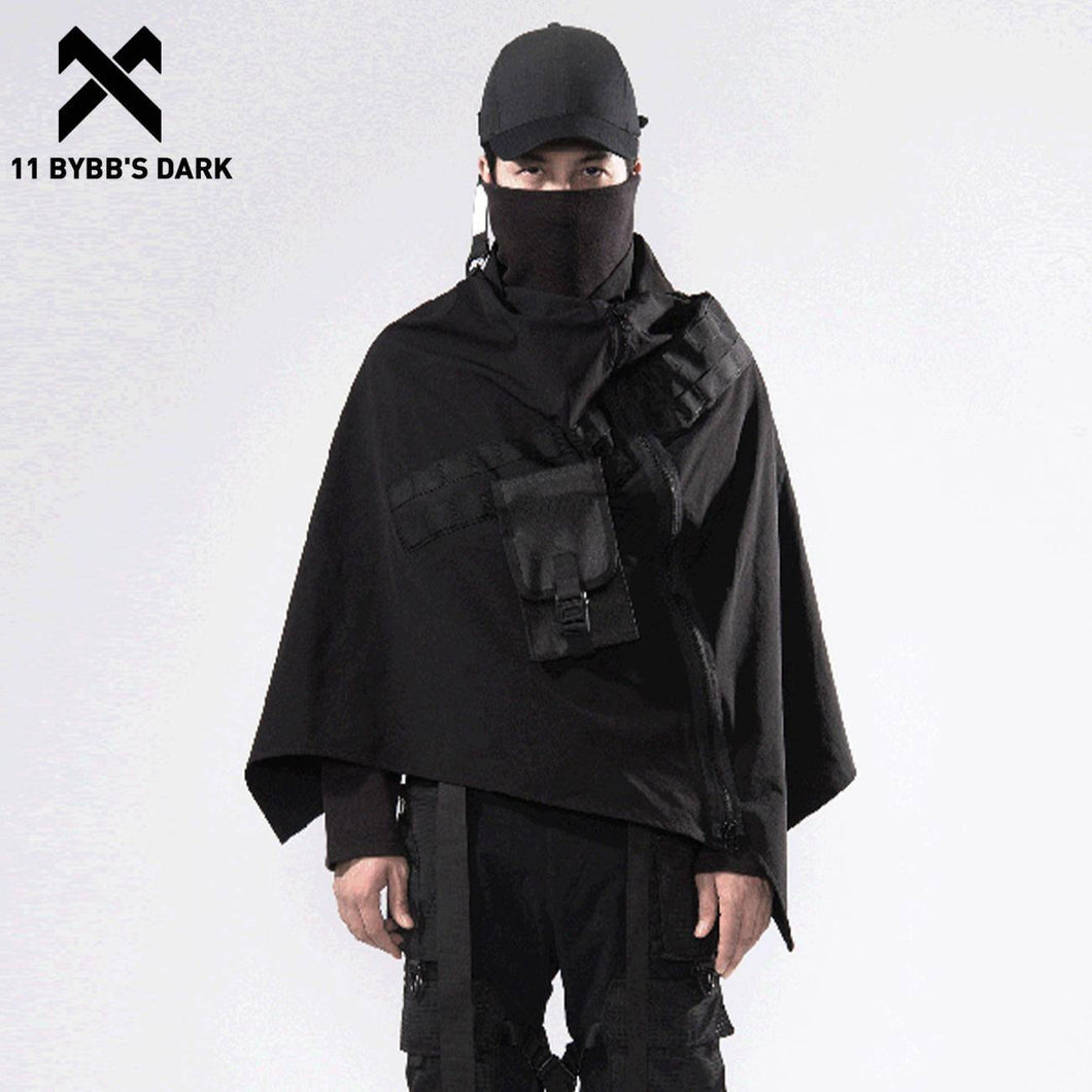 11 BYBB'S DARK Hip Hop Techwear Funeral Jacket Streetwear Zipper Outdoor Windproof Shawl 2021 Loose Cardigan Windbreaker Cloak | akolzol