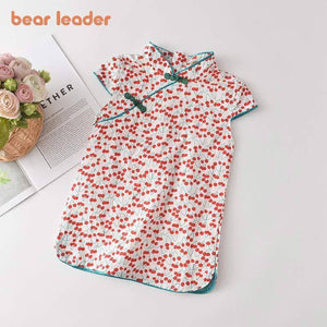 Bear Leader Girls Casual Dresses 2021 New Fashion Kids Chinese Style Clothes Baby Girl Party Outfits Flowers Clothing 2 8 Years |  | akolzol