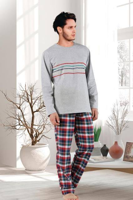 2 Pieces Sleepwear Set for Men - Nightgowns Pyjamas Sleepshirts Homewear Nightdress Top and Pant Night Wear Pajamas | akolzol