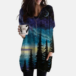 New Fashion Womens Elegant Loose Pullover Shirt Long Sleeve Tops Female V-Neck T Shirt Streetwear Abstract Face Print Tee Shirts | akolzol