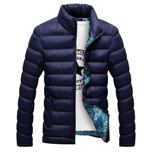 Winter Jacket Men 2021 Fashion Stand Collar Male Parka Jacket Mens Solid Thick Jackets and Coats Man Winter Parkas M-6XL
