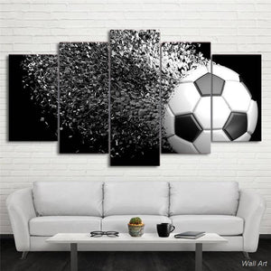 Hd Printed 5 Piece Canvas Art Football Disintegration Painting Wall Pictures Modular Framed Painting Free Shipping -92791-YP |  | akolzol