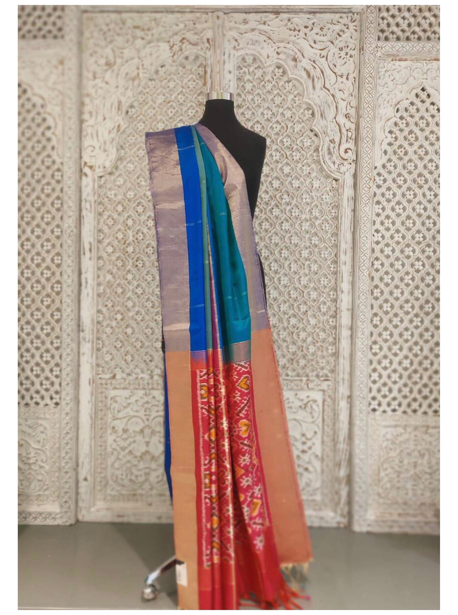 Mutli Colour Bangloari Silk Saree