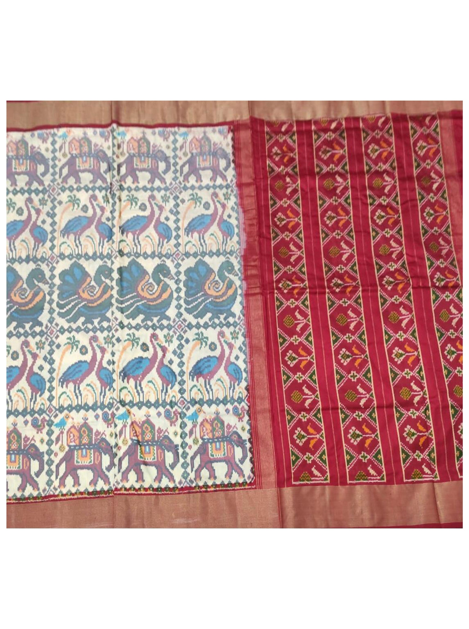 Red Patola Printed Saree