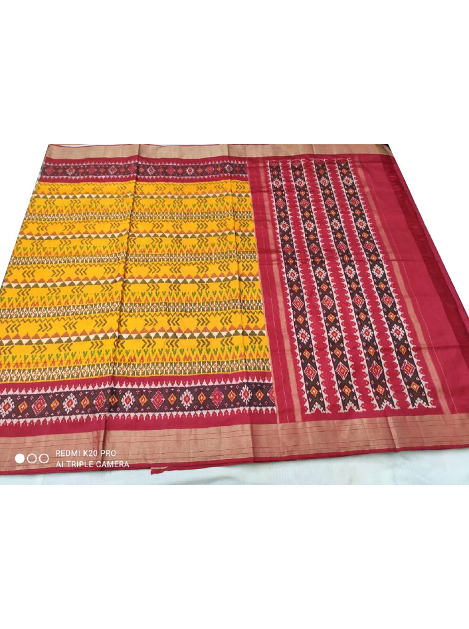 Red & Yellow Patola Saree