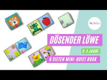 Laden und Abspielen von Videos im Galerie-Viewer, Dösender Löwe mini quiet book - jolly Designs