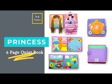Load and play video in Gallery viewer, Prinzessin Quiet Book - Jolly Designs