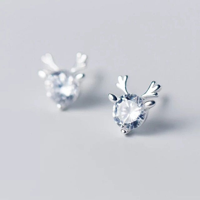 New Creative Christmas Ornaments Stylish Christmas Elk Crystal Deer Stud Earrings Women Fashion Jewelry Gift Christmas Ornaments