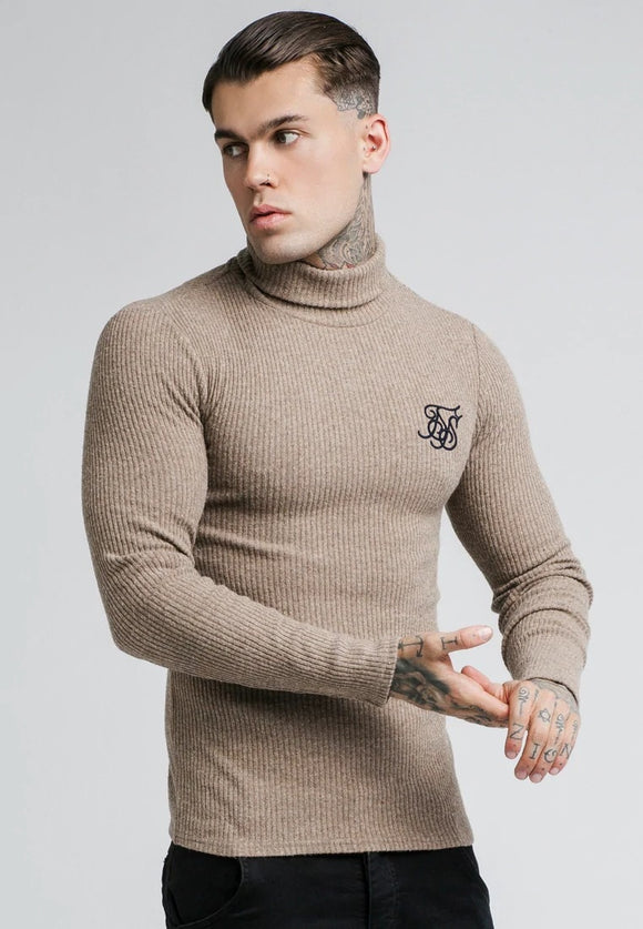 SikSilk Beige Knitwear Jumper Men's Knitwear Sweater