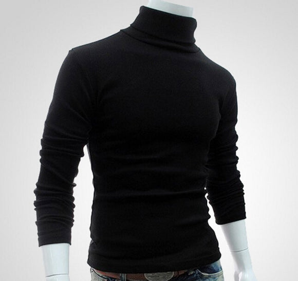 Men's Fashion new ermal High Collar Turtle Neck Long Sleeve Sweater Top Hot Sale  Turtleneck