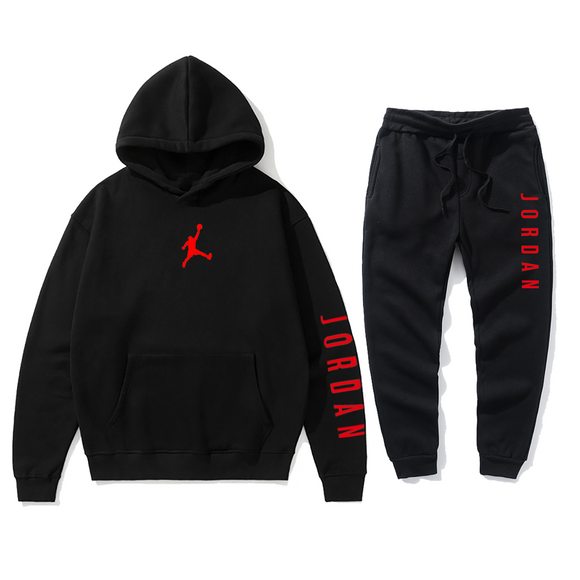 Autumn and Winter men's hooded Sweater suit JORDAN 23 Track Suit Sweatshirt Wool Hoodie + Sweatpants Jogging Ladies Pullover S-3