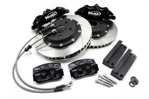 "V-Maxx, Black Caliper 4 Piston Big Brake Kit (20 VO330 01X) With 330mm Disc, Minimum Wheel Size 17"" Includes Brake Lines"