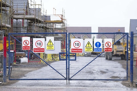Constructionn safety signs