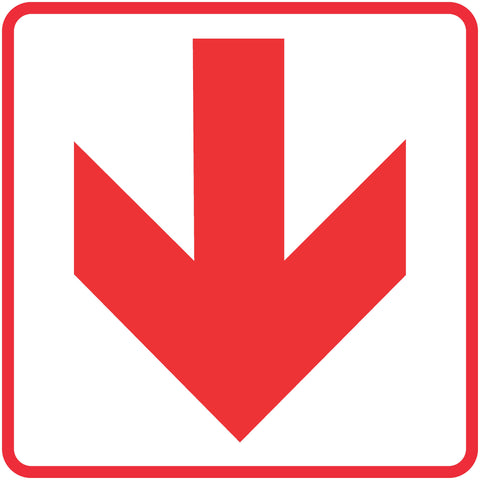 Red Arrow - Location of Fire Fighting equipment safety sign (FB 1)