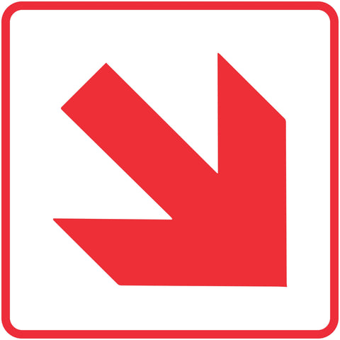 Diagonal Red Arrow safety sign (FB 1.1)