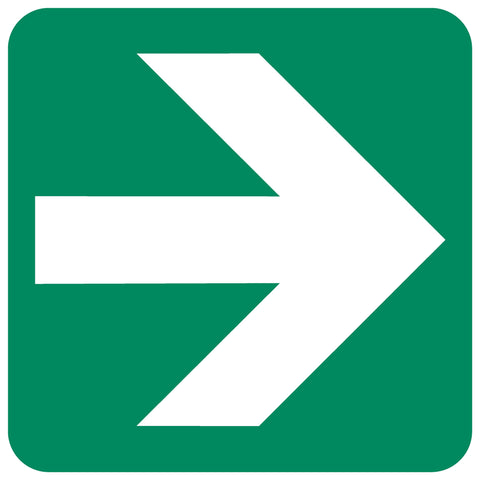 Directional Green Arrow safety sign (GA 2)