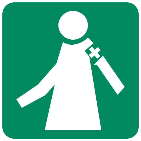 Manned First Aid Station safety sign (GA 5)