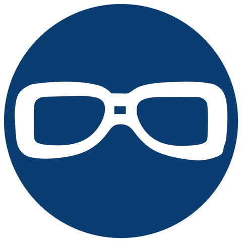 Eye Protection Shall Be Worn safety sign (MV 1)